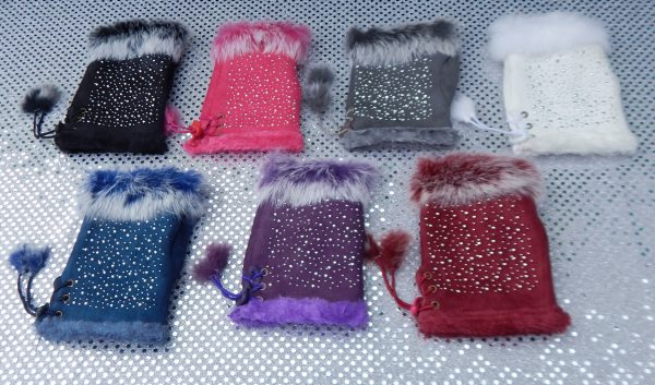 All Colors Star-Studded Fingerless Gloves
